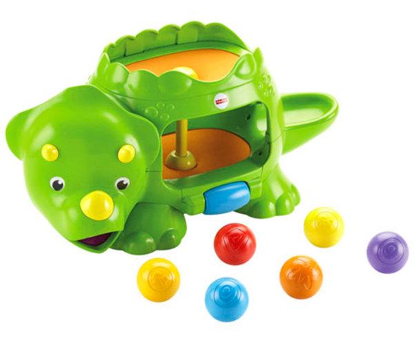 Занимателна играчка - Динозавър с топчета
